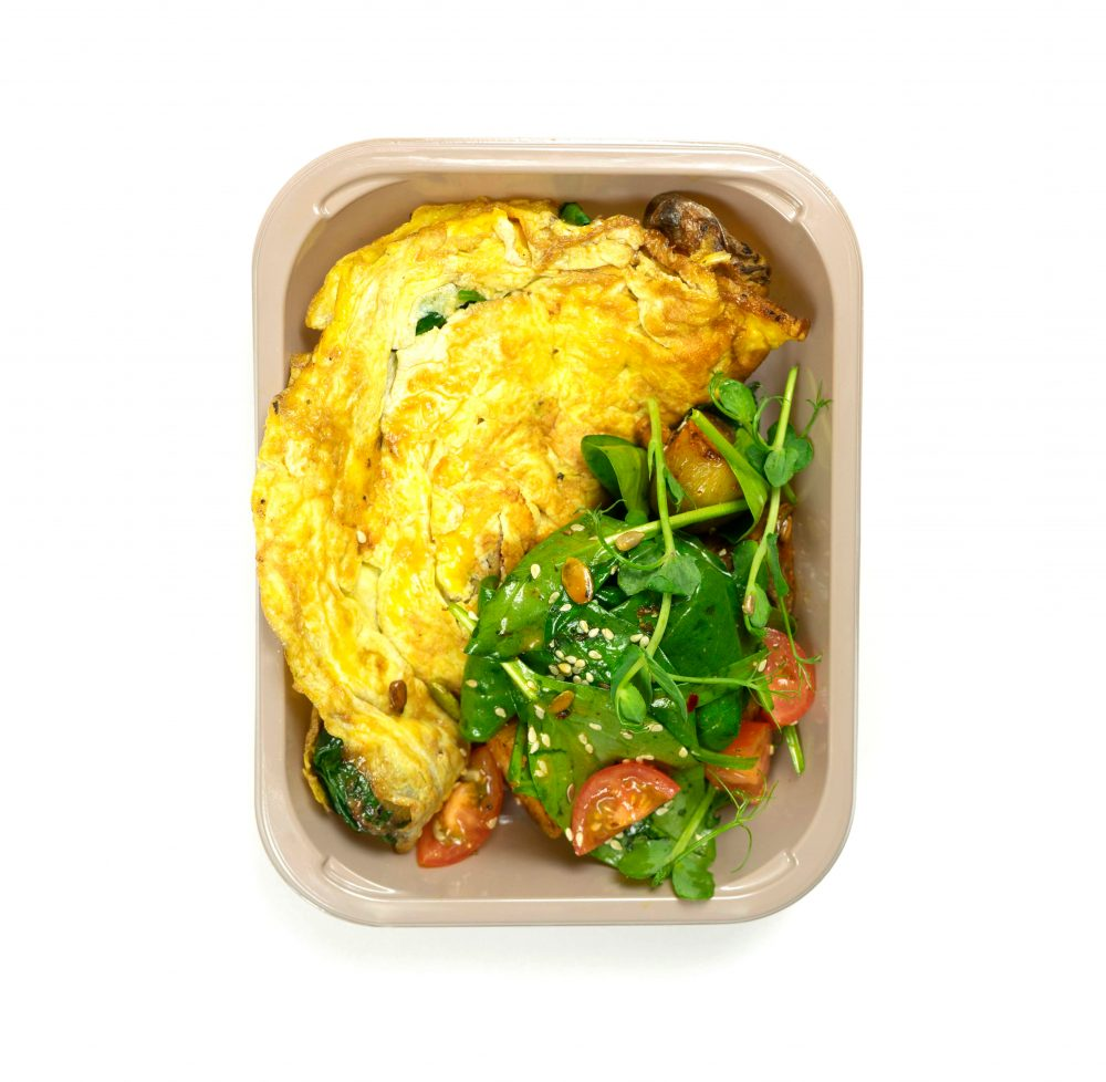 Baby Potato & Spinach Omelette