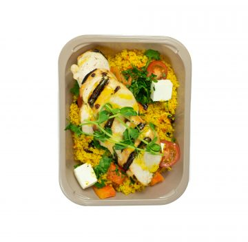 Char-grilled Chicken, Cous-Cous & Feta Salad